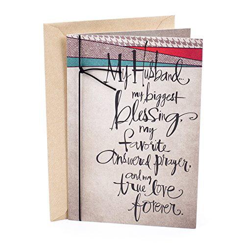 hallmark mahogany birthday card for husband thank the