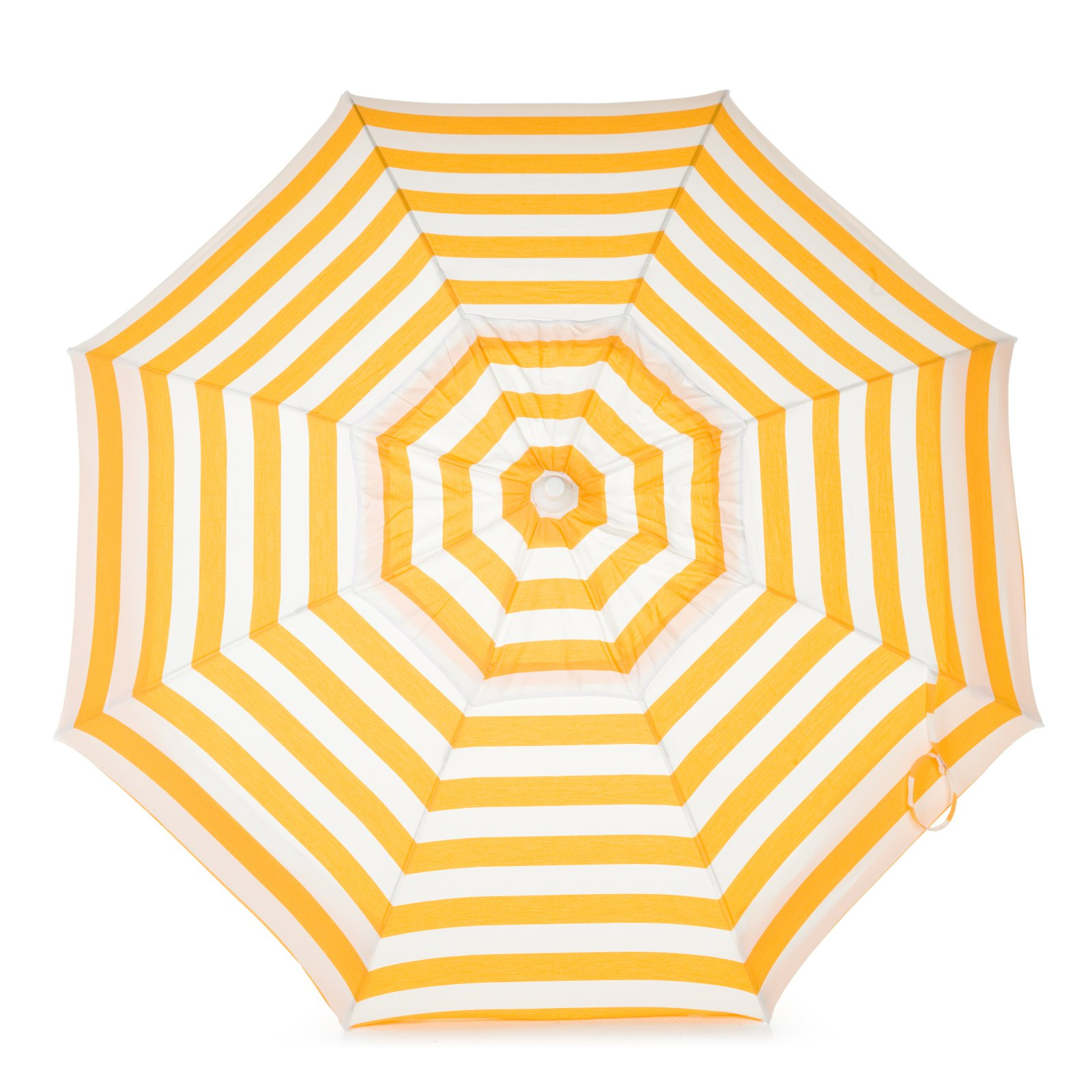 DestinationGear Italian 6' Umbrella Acrylic Stripes Yellow and White Patio Pole