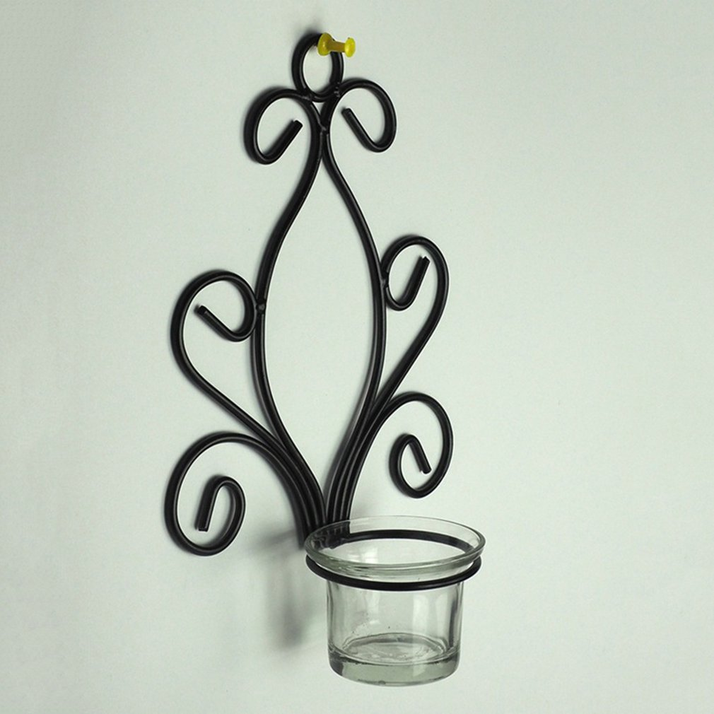Fancyy wall mounted candlestick home decoration candle holder creative ornaments black