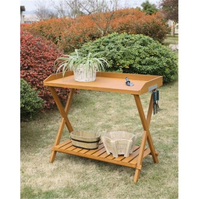 Potting Bench, Light Oak