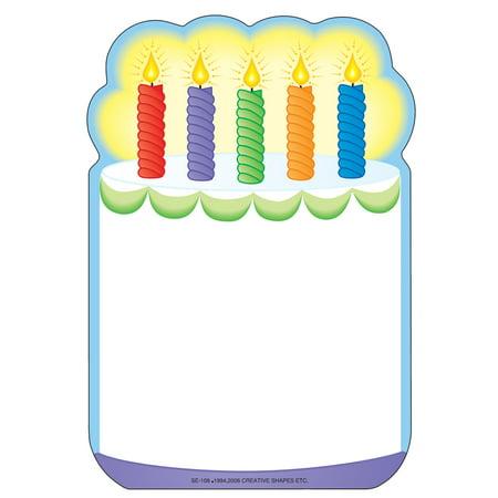 Large Notepad - Birthday Cake