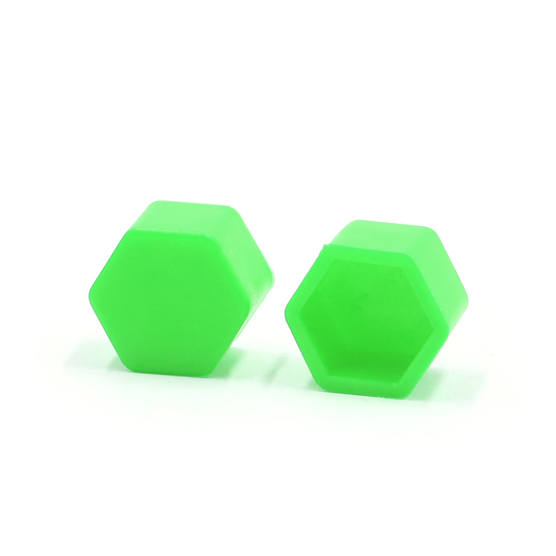 20 Pcs 21 x 20mm Green Luminous Car Wheel Tyre Hub Screw Bolt Nut Cap Covers - image 2 de 3
