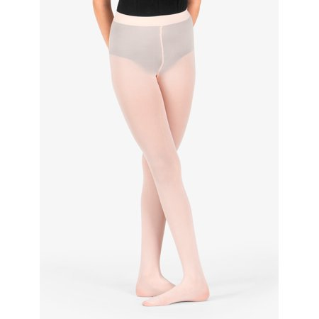Theatricals Girls Footed Tights with Smooth Self-Knit - White Heart Tights