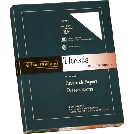 Southworth, SOU3512010, 100% Cotton Thesis Paper, 250 / Pack, Bright White