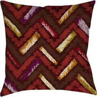 IDG Chevron Ikat Spice Indoor Pillow