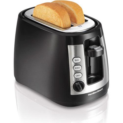 Hamilton Beach Warm Mode 2-Slice Toaster, Black