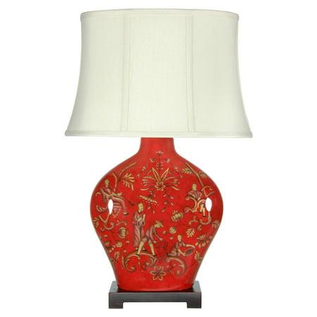 Oriental Furniture Fruitful Harvest Porcelain Table Lamp](Oriental Lamp)