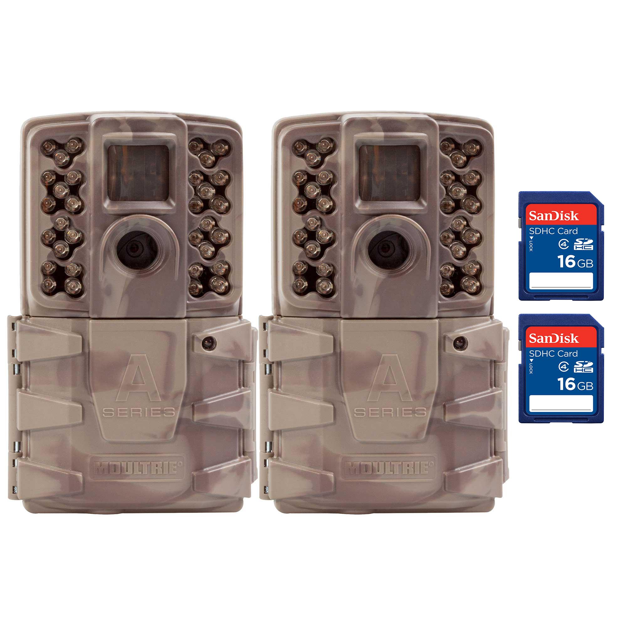 Moultrie A30i 12MP 60' Video No Glow IR Trail Camera + 16...