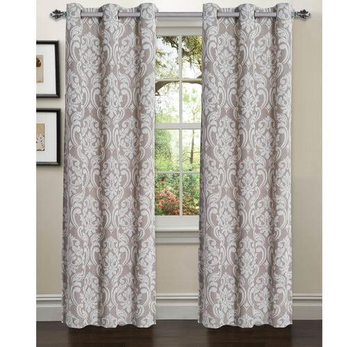 Elinor Linen Blend Jacquard Grommet Curtain Panel Pairs by YMF Carpets Inc.