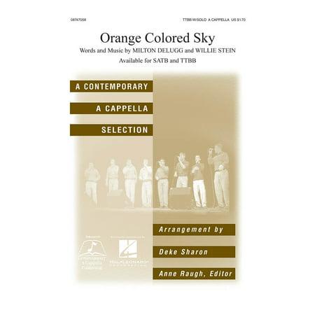 Hal Leonard Orange Colored Sky Ttbb A Cappella Arranged By Deke Sharon