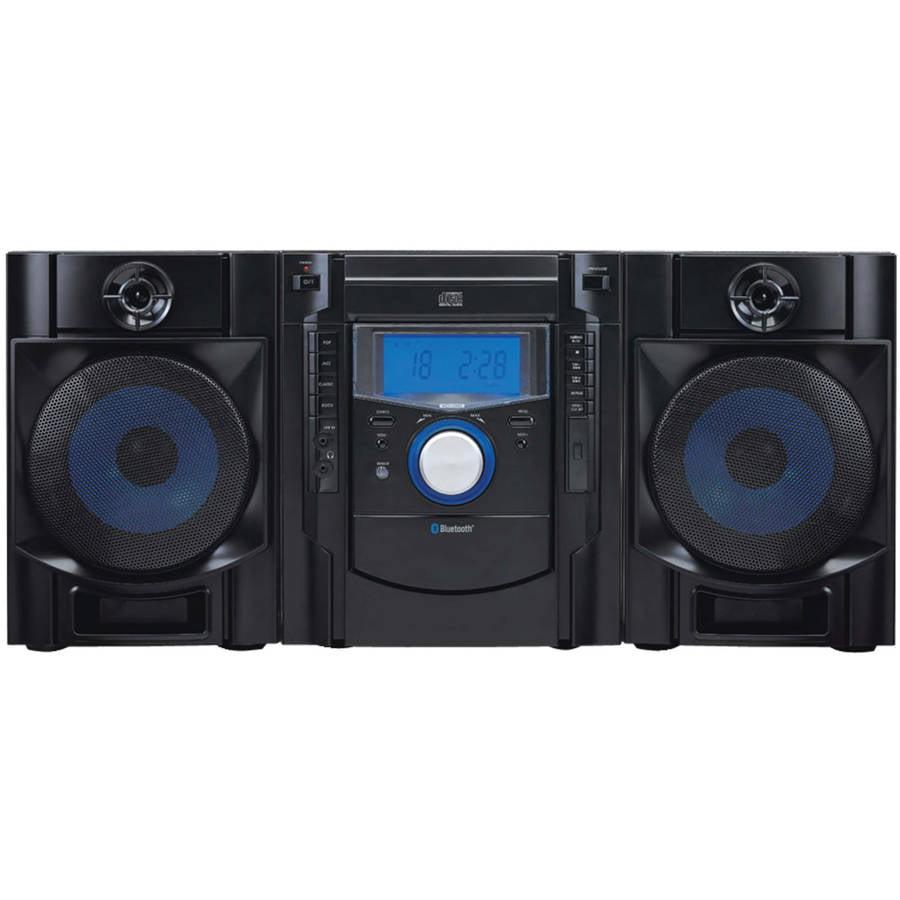 Sylvania SRCD2731BT Bluetooth CD Radio Micro System with Blue LED Display by Sylvania