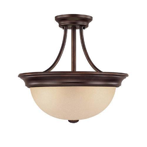 Capital Lighting 2 Light Semi-Flush Fixture, Burnished Bronze - 2749BB