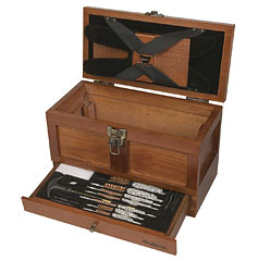Outers Tool Box Maintenance Kit for Universal Gun Cleaning, 25 Piece, Wood Box