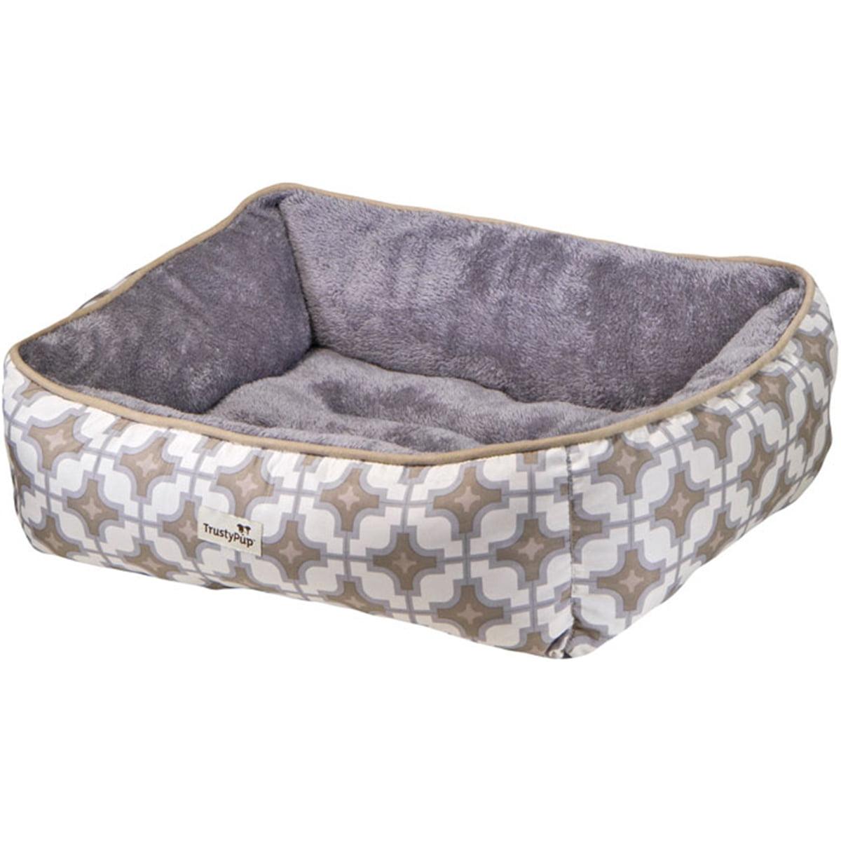"trustypup dreamluxe dog bed, medium, 25"" x 21"", tan - walmart"