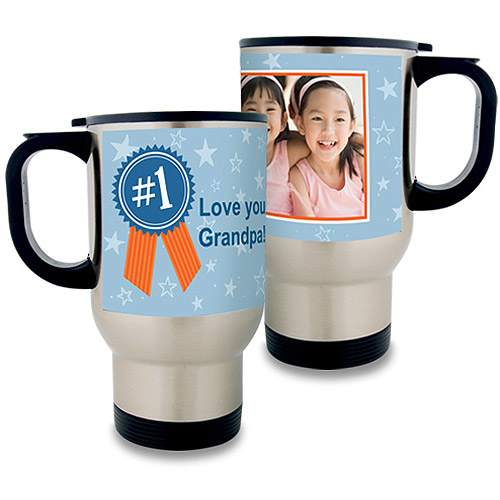 Stainless Steel Father's Day Love You Dad Photo Travel Mug, 14 oz
