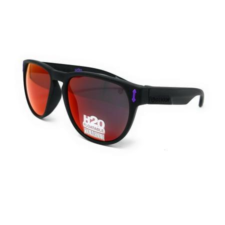 DRAGON Sunglasses MARQUIS H2O 038 Matte Black Round Unisex (H2o Sunglasses)