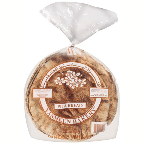 New Yasmeen Bakery Whole Wheat Pita Bread, 20 oz