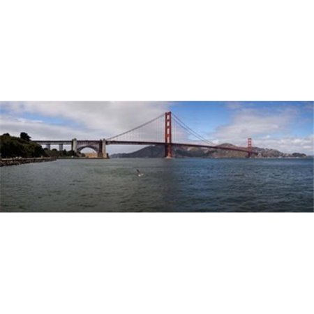 Panoramic Images PPI147468L Suspension bridge across the sea  Golden Gate Bridge  San Francisco  California  USA Poster Print by Panoramic Images - 36 x 12 - image 1 de 1