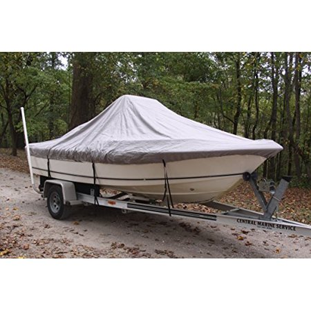 VORTEX HEAVY DUTY GREY / GRAY CENTER CONSOLE BOAT COVER FOR 16'7