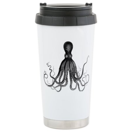 CafePress - Vintage Octopus Travel Mug - Stainless Steel Travel Mug, Insulated 16 oz. Coffee Tumbler - Halloween Vintage Tumblr