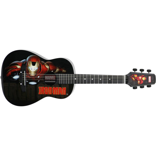 Your favorite  officially licensed Marvel characters adorn this quality junior-size acoustic guitar! Easy to play & stays in tune  these starter guitars are perfect for your little Super Hero