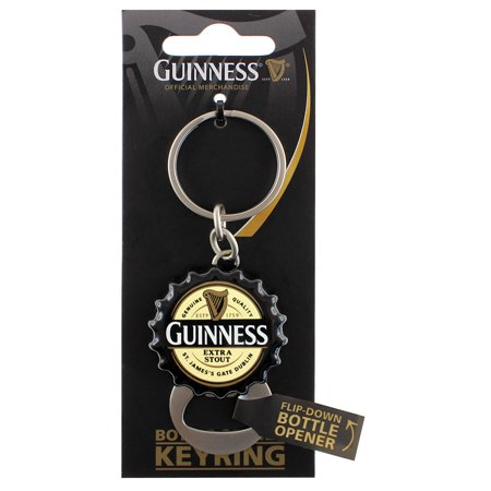 Guinness Flip Down Bottle Opener Keyring