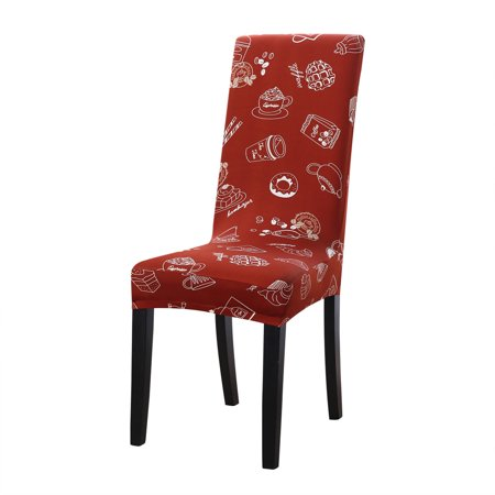 PiccoCasa Stretch Spandex Dining Chair Covers Protector Set of 4 ()