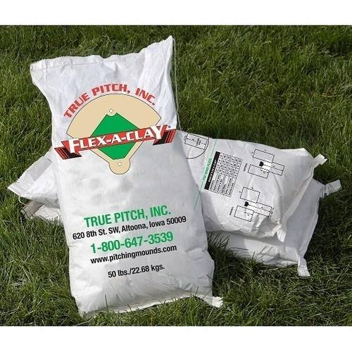 True Pitch Flex-A-Clay Softball and Baseball Field Clay (1 Bag)