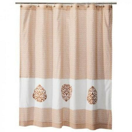 Mudhut HOPE Shower Curtain LIGHT ORANGE