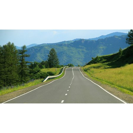 Laminated Poster Trip Asphalt Journey Highway Road Route Street Poster Print 24 X 36