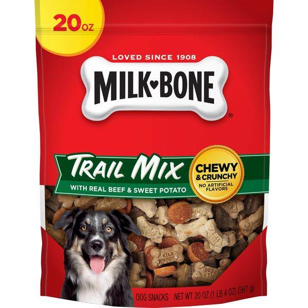 Milk-Bone Trail Mix With Real Beef & Sweet Potato Dog Snacks, 20-Ounce