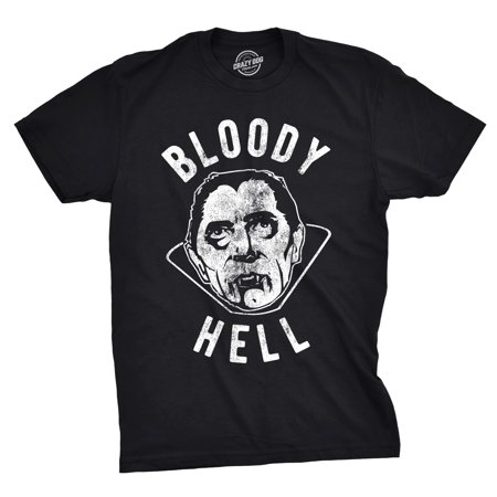 Mens Bloody Hell Tshirt Funny Halloween Party Vampire Tee For Guys](Guy Halloween Ideas College)