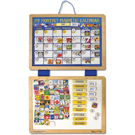 Melissa   Doug Deluxe Wooden Magnetic Calendar With 134 Magnets