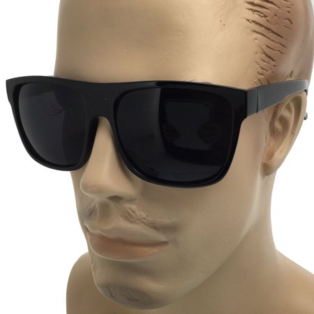 Super Dark Lens MENS Large Black Cholo Gangster Sunglasses LOC Lowrider OG (Loc Styles Men)