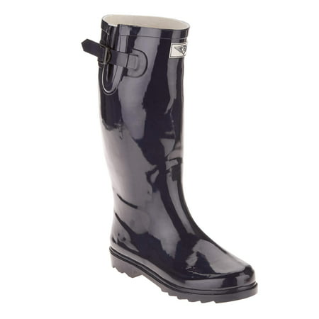 Blue Womens Snowboard Boots - Forever Young Women's Tall Shaft Rain Boot