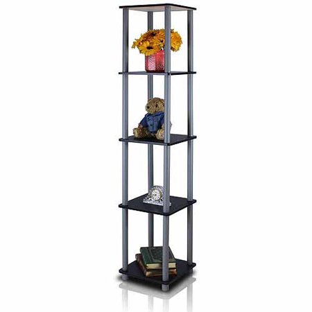 Furinno 99132 Turn-N-Tube 5-Tier No-Tools Corner Square Rack