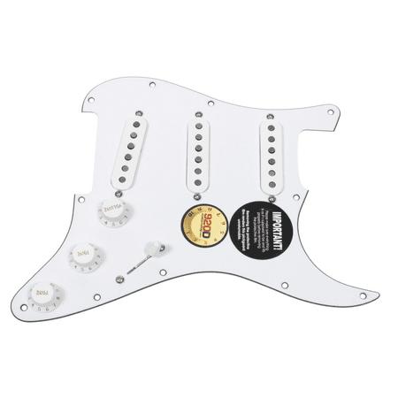 Fender Standard Stratocaster Pickguard (920D Custom Loaded Strat Stratocaster Pickguard Fender Custom '69 Pickups WH/WH)