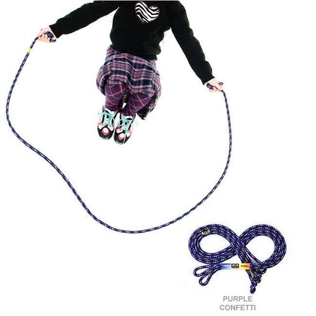 16' Double Dutch Jump Rope - Purple Confetti