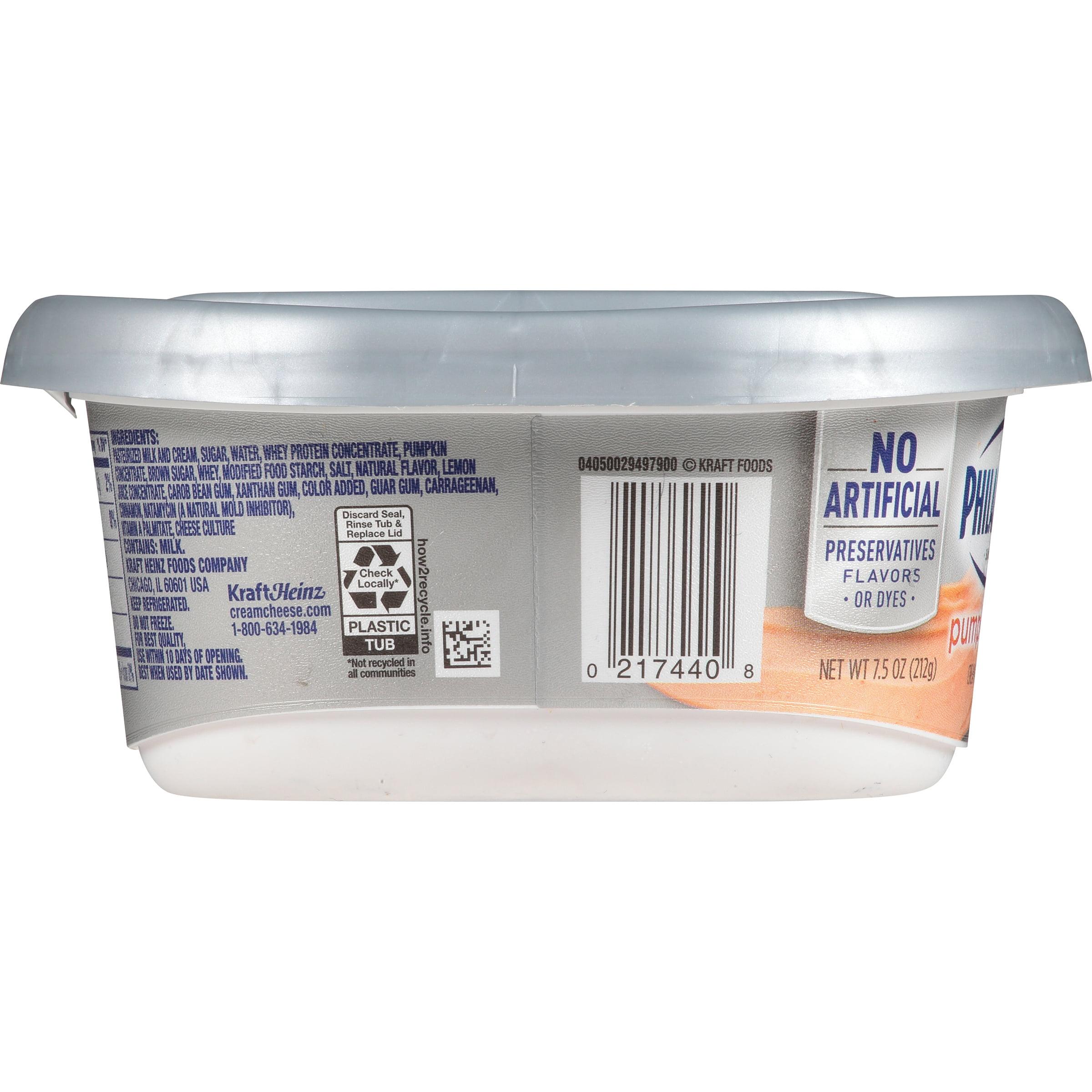 Philadelphia Pumpkin Spice Cream Cheese Spread 7 5 Oz Tub