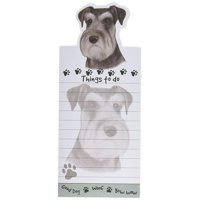 """Schnauzer Magnetic List Pads"" Uniquely Shaped Sticky Notepad"
