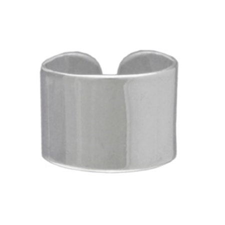 Sterling Silver High Polished Plain Band Middle Ear Ear Cuff ()