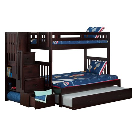 Atlantic Furniture Cascade Staircase Twin Over Full Bunk