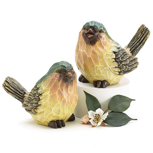 Burton & Burton Wood Carved Figurine Bluebird, 2 Assorted