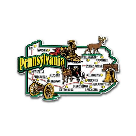 Pennsylvania Jumbo State Map Fridge Magnet (Custom Fridge Magnets)