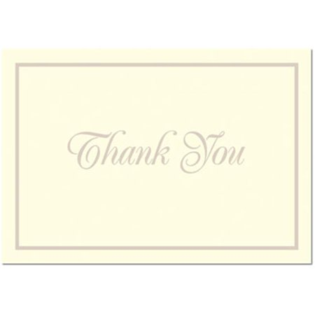 Image Shop 20104168 Pearl Border Foil Thank You Note - 100 Thank You Cards