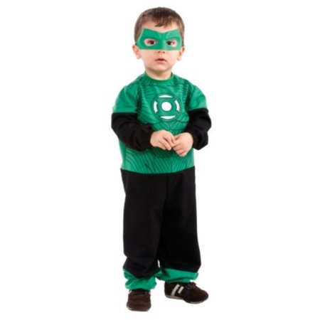 Green Lantern Hal Jordan Jumpsuit Baby Costume (Green Lantern Muscle Costume)