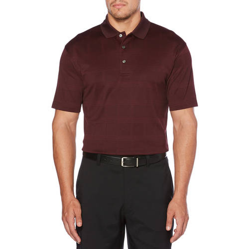 Men's Performance Short Sleeve Jacquard Golf Polo by