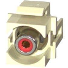 C2G 28742 C2G Snap-In Red RCA F/F Keystone Insert Module - Ivory - RCA