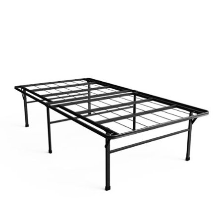 Priage 18 Inch High Profile Smartbase Black Platform Bed