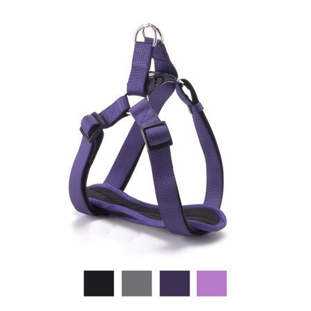 Vibrant Life Comfort Padded Step-In Dog Harness, Purple, 22-36